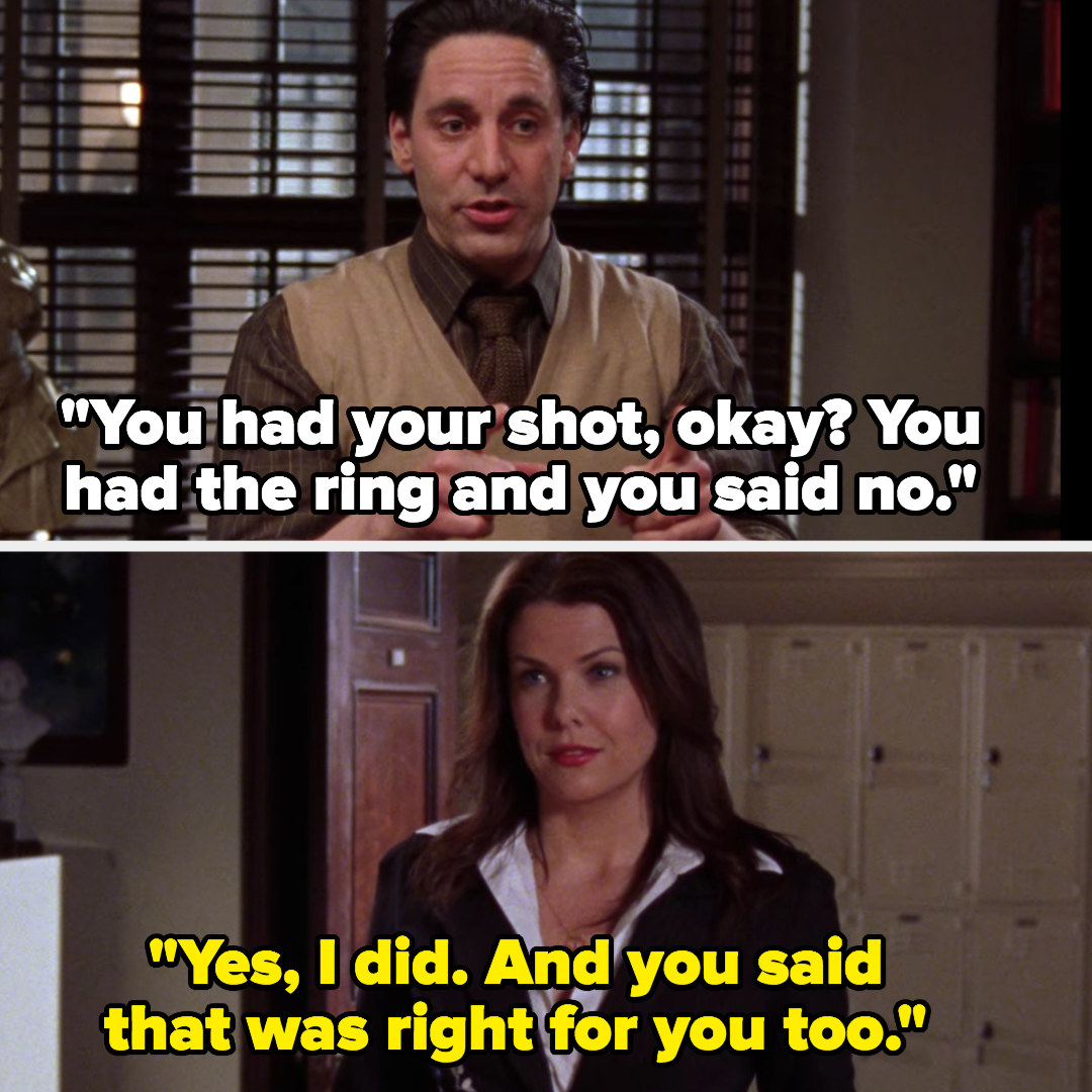 Max tells Lorelai she had her shot and she called off the engagement