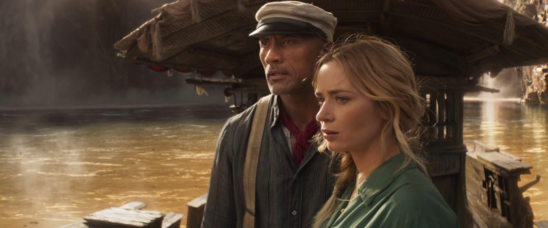 from left: Dwayne Johnson, Emily Blunt, 2021