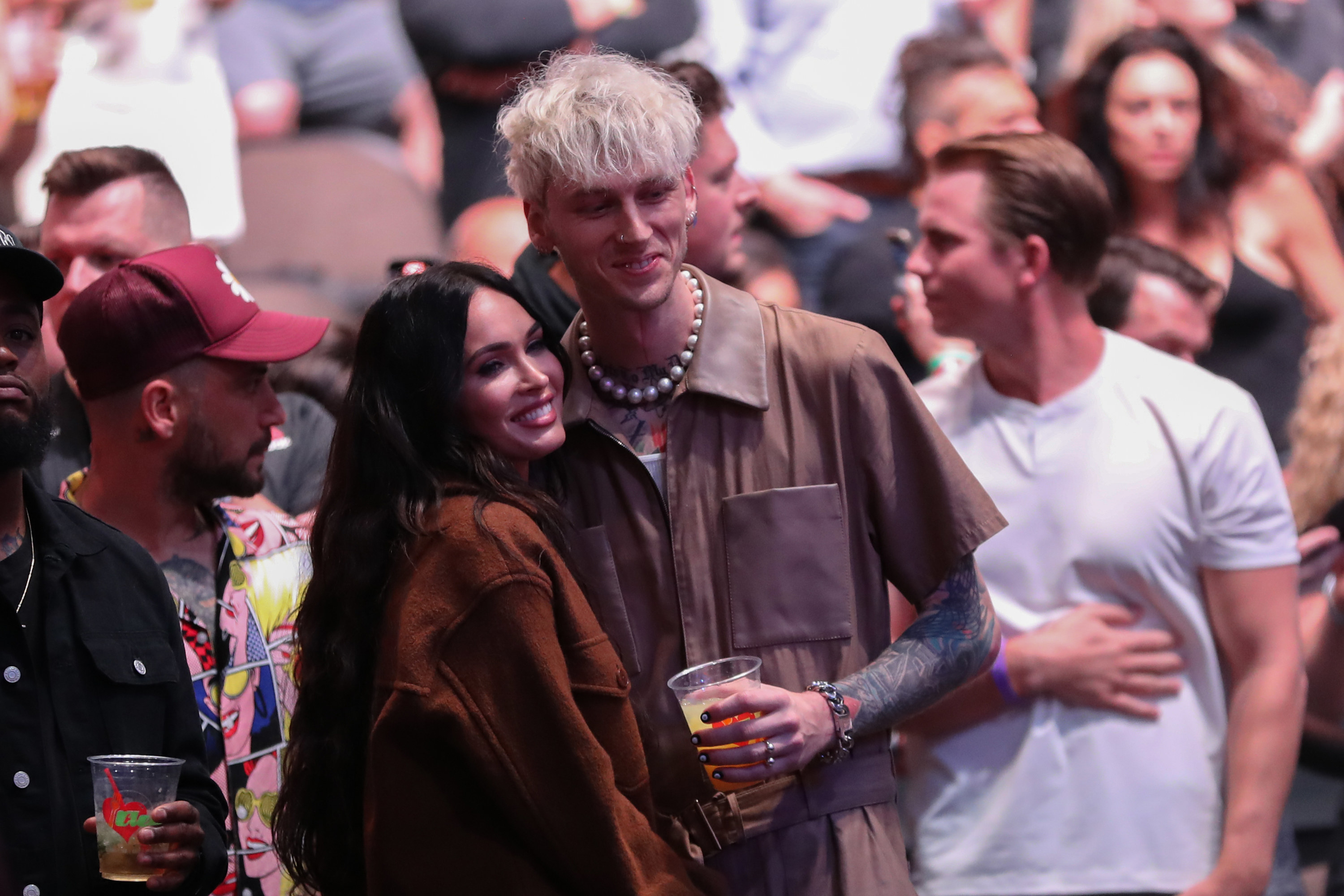 Megan Fox and Machine Gun Kelly are photographed together