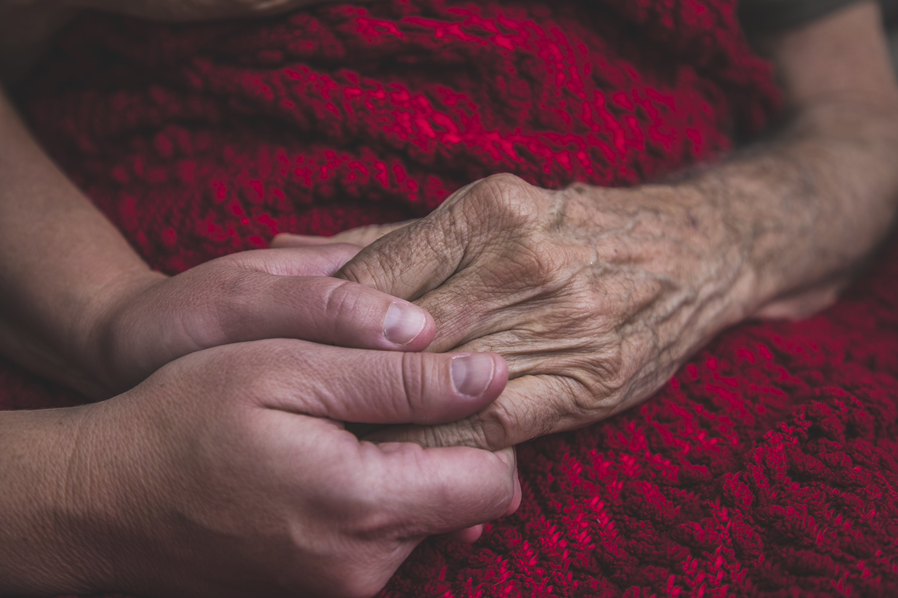 An image of a hand being held