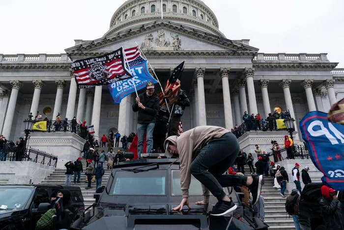 The Capitol during the Jan. 6 insurrection