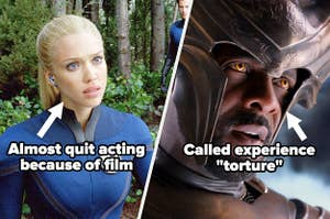"""Jessica Alba in Fantastic Four labeled """"Almost quit acting because of film"""" and Idris Elba in Thor 2 labeled """"called experience 'torture'"""""""