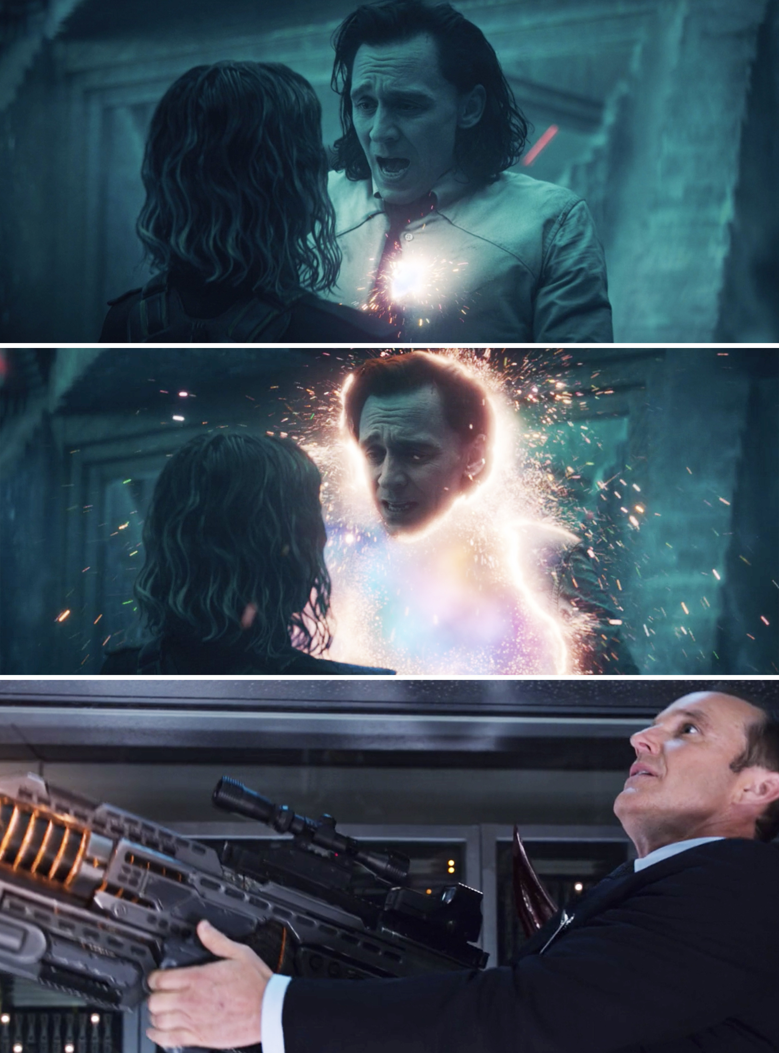 Loki disappearing after being stabbed vs. Coulson being stabbed in The Avengers
