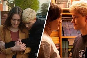 Split photos from Feel Good on Netflix