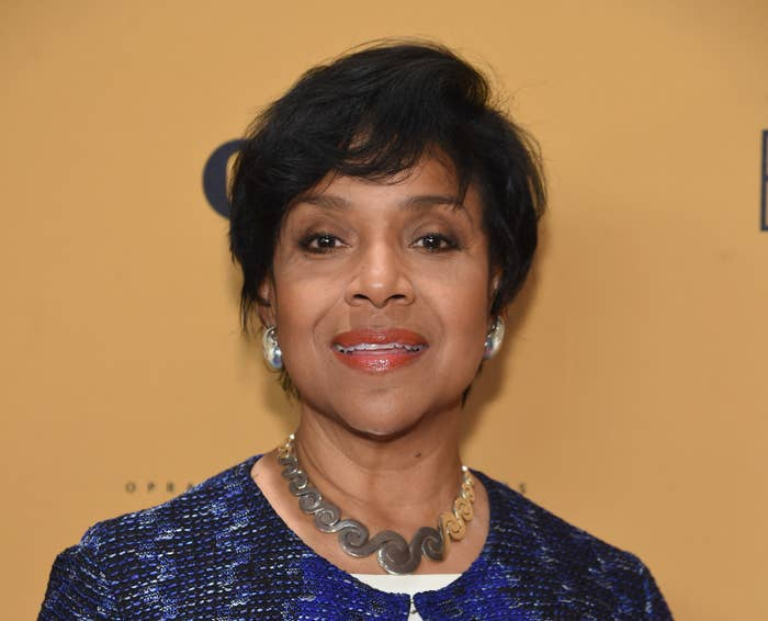 Phylicia Rashad poses for a picture at a premiere in 2015