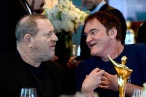 Tarantino animatedly talks to Weinstein in 2013