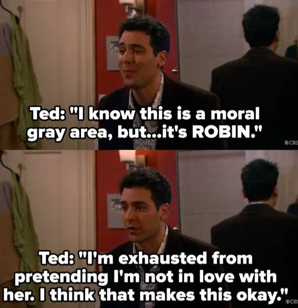 Ted says it's okay to cheat on Victoria because it's Robin