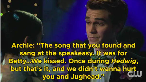Archie tells Veronica at prom that he cheated on her