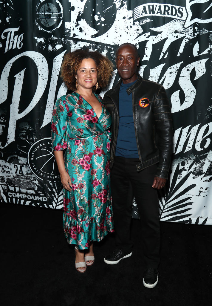 Bridgid Coulter (L) and Don Cheadle attend Players' Night Out 2019