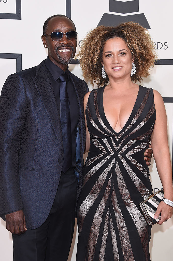 Don Cheadle (L) and Bridgid Coulter attend The 58th GRAMMY Awards