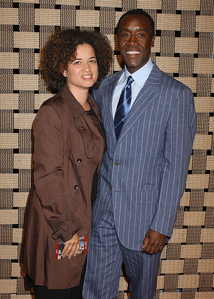 """Don Cheadle (R) and Bridgid Coulter during """"Hotel Rwanda"""" Los Angeles Premiere - Arrivals"""