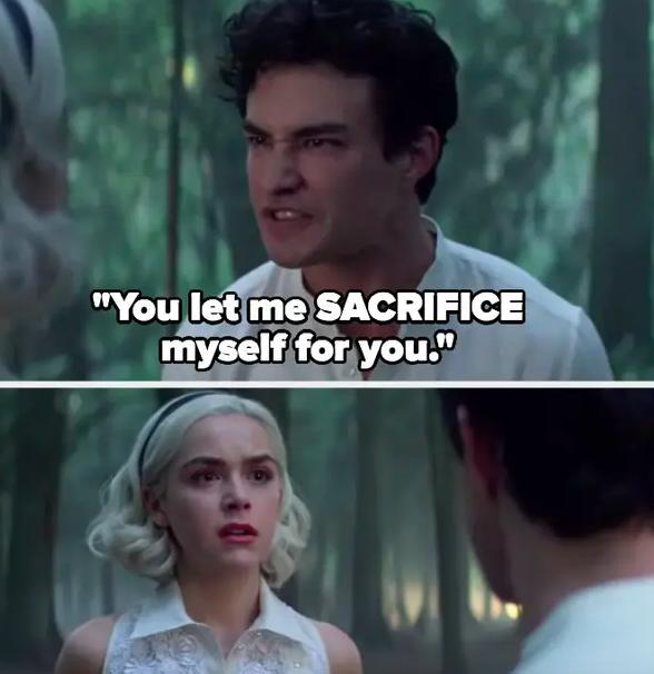 Nick tells Sabrina she wasn't worth sacrificing himself for