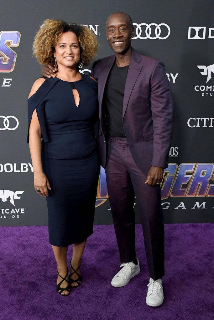 "Bridgid Coulter (L) and Don Cheadle attend the world premiere of Walt Disney Studios Motion Pictures ""Avengers: Endgame"""