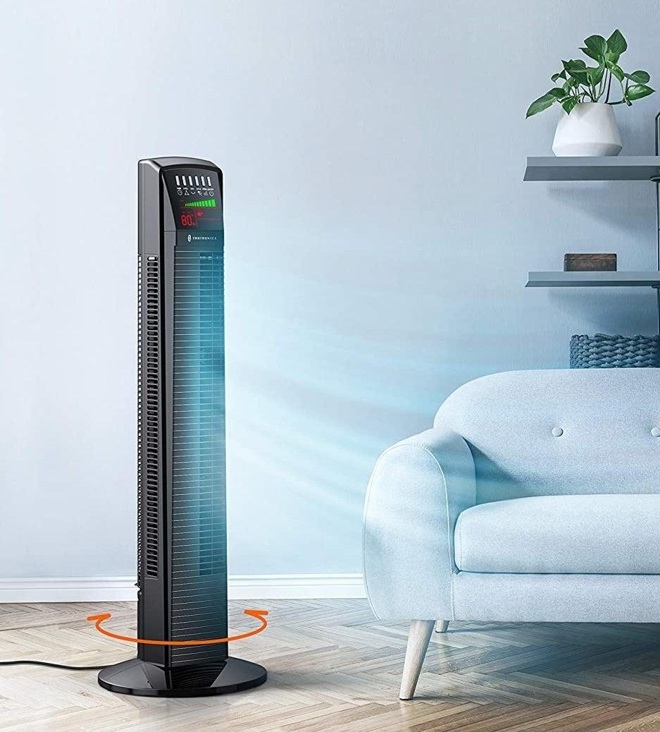 The fan in a living room