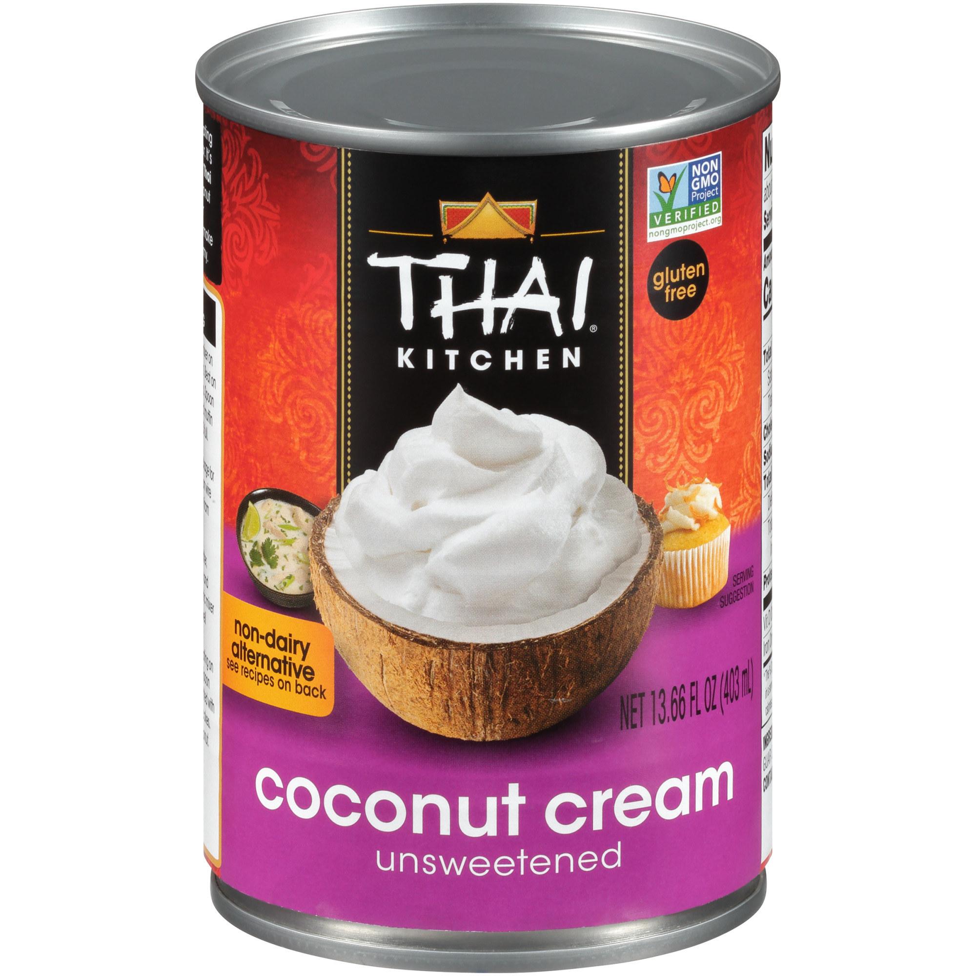 The purple can of coconut cream