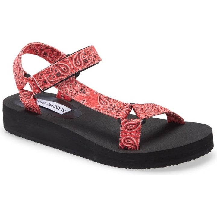 paisley print sandals