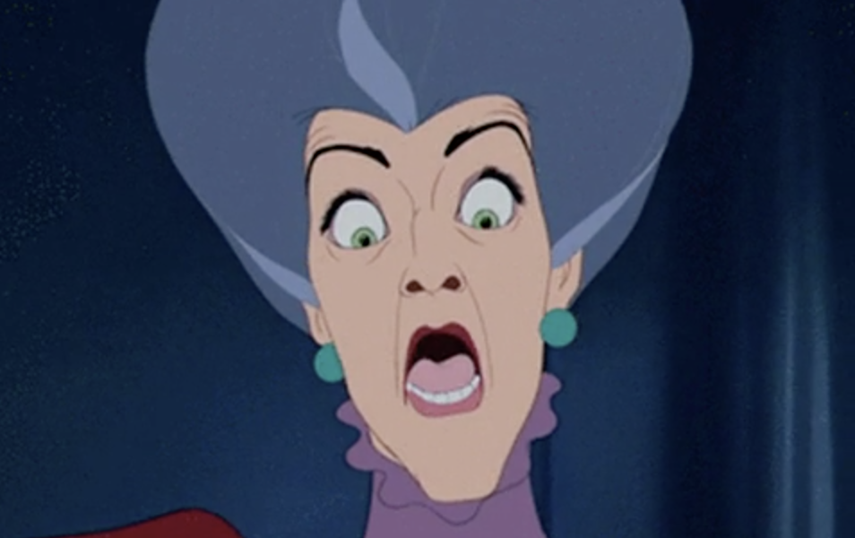Lady Tremaine gasping