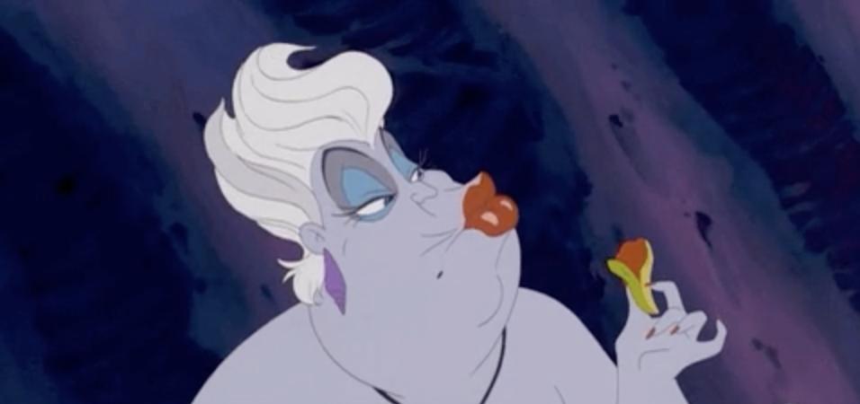 Ursula blowing a kiss