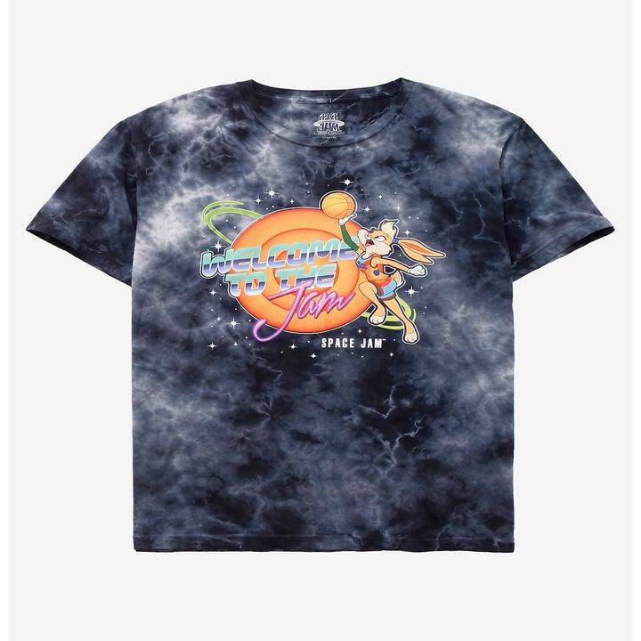 Black tie-dye space jam t-shirt