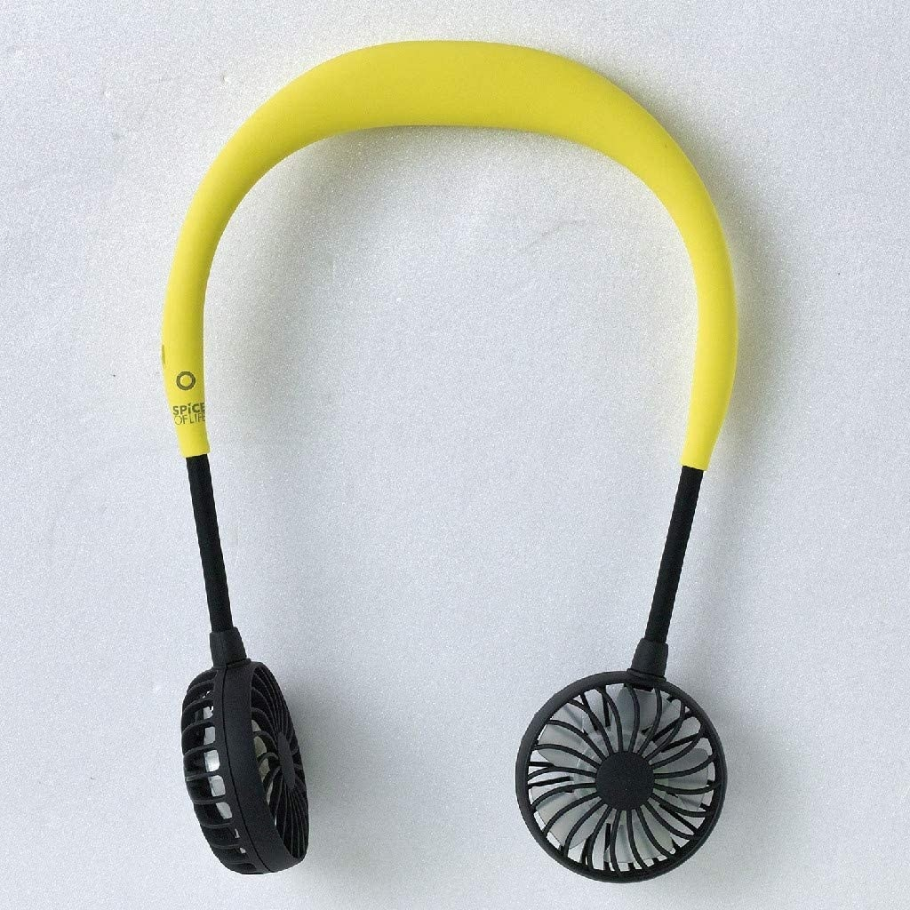 The headphone-like fans in yellow and black