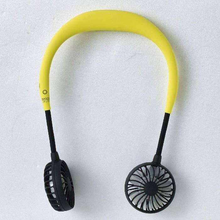 The headphone-like fans