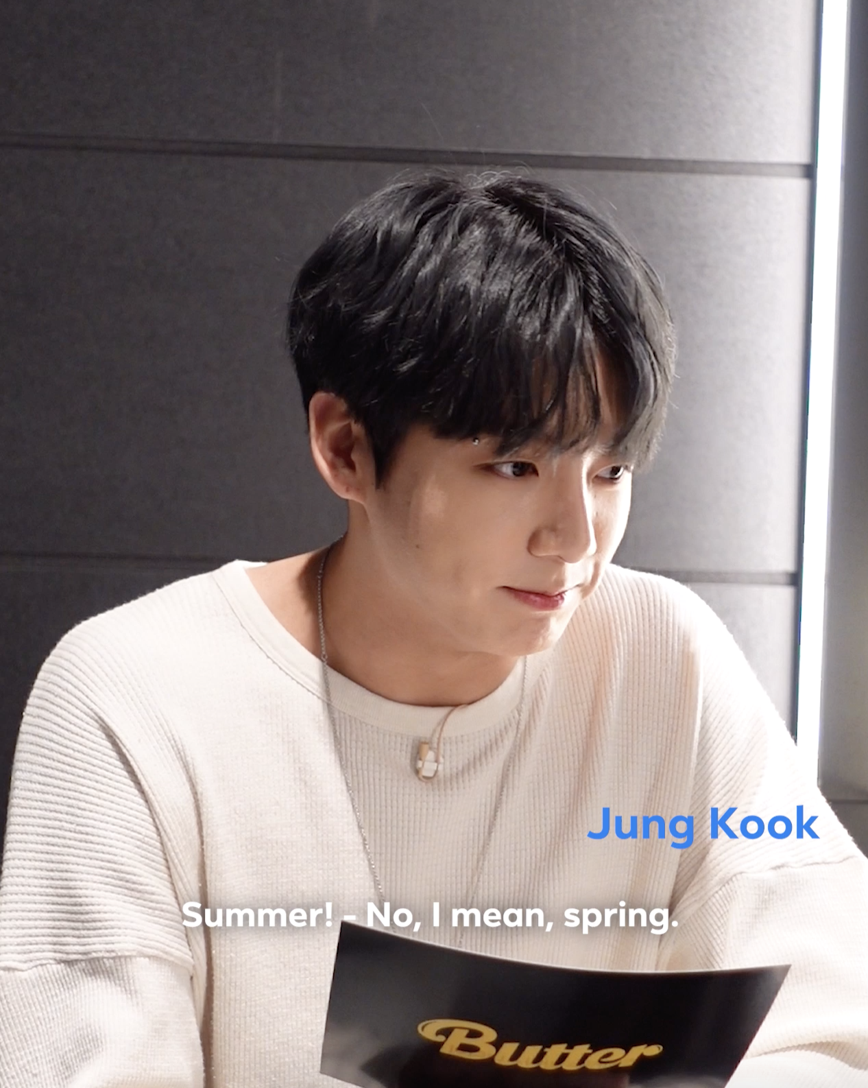 Jungkook thinking hard