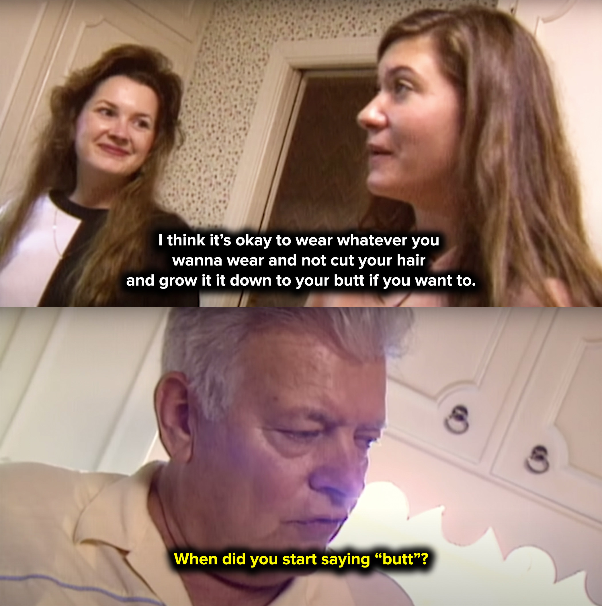 """Julie's dad got mad at her for saying """"butt"""" on TV"""
