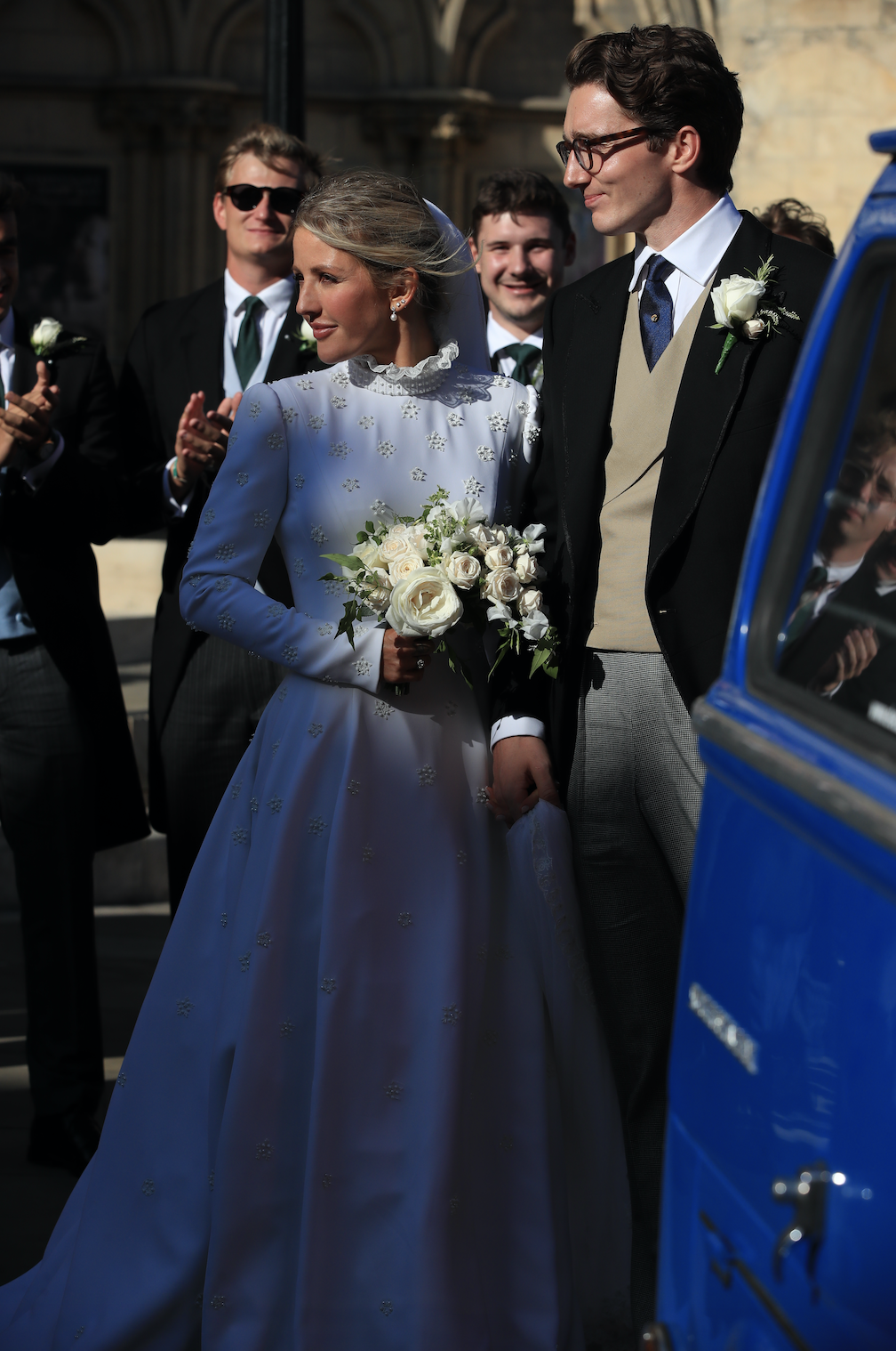 Newly married Ellie Goulding and Caspar Jopling leave York Minster after their wedding
