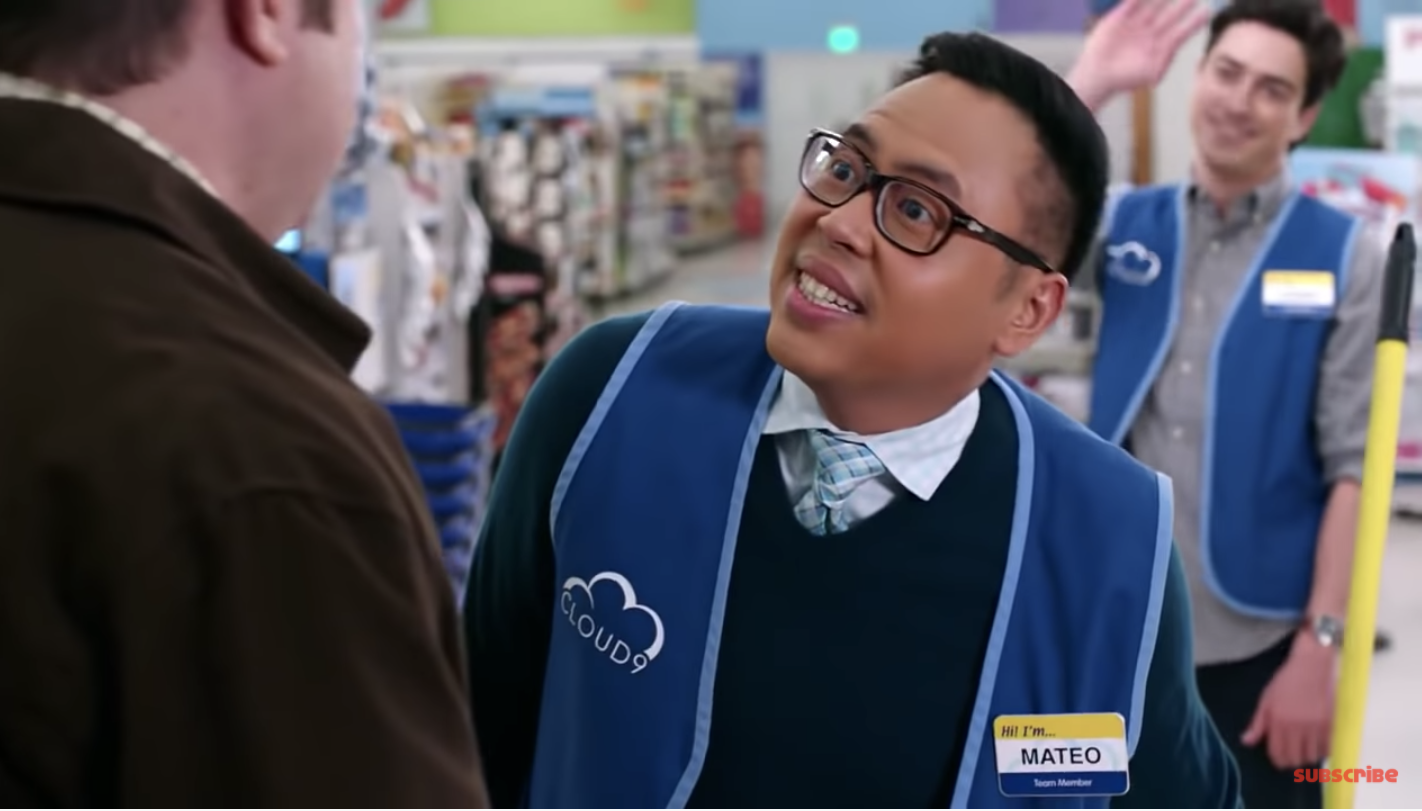 Angry retail worker staring at a customer