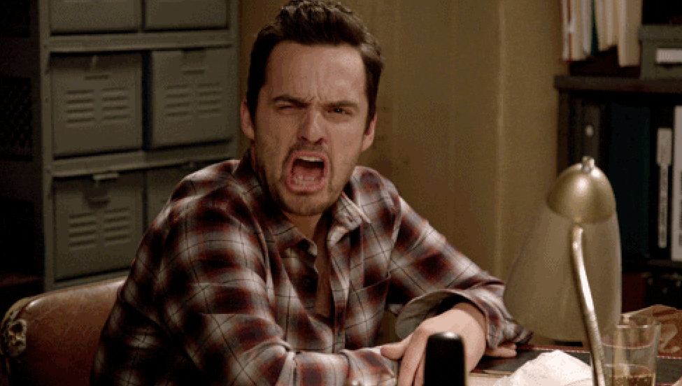 Disgusted Nick Miller