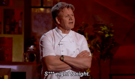 I'm disappointed in you, Gordon Ramsay