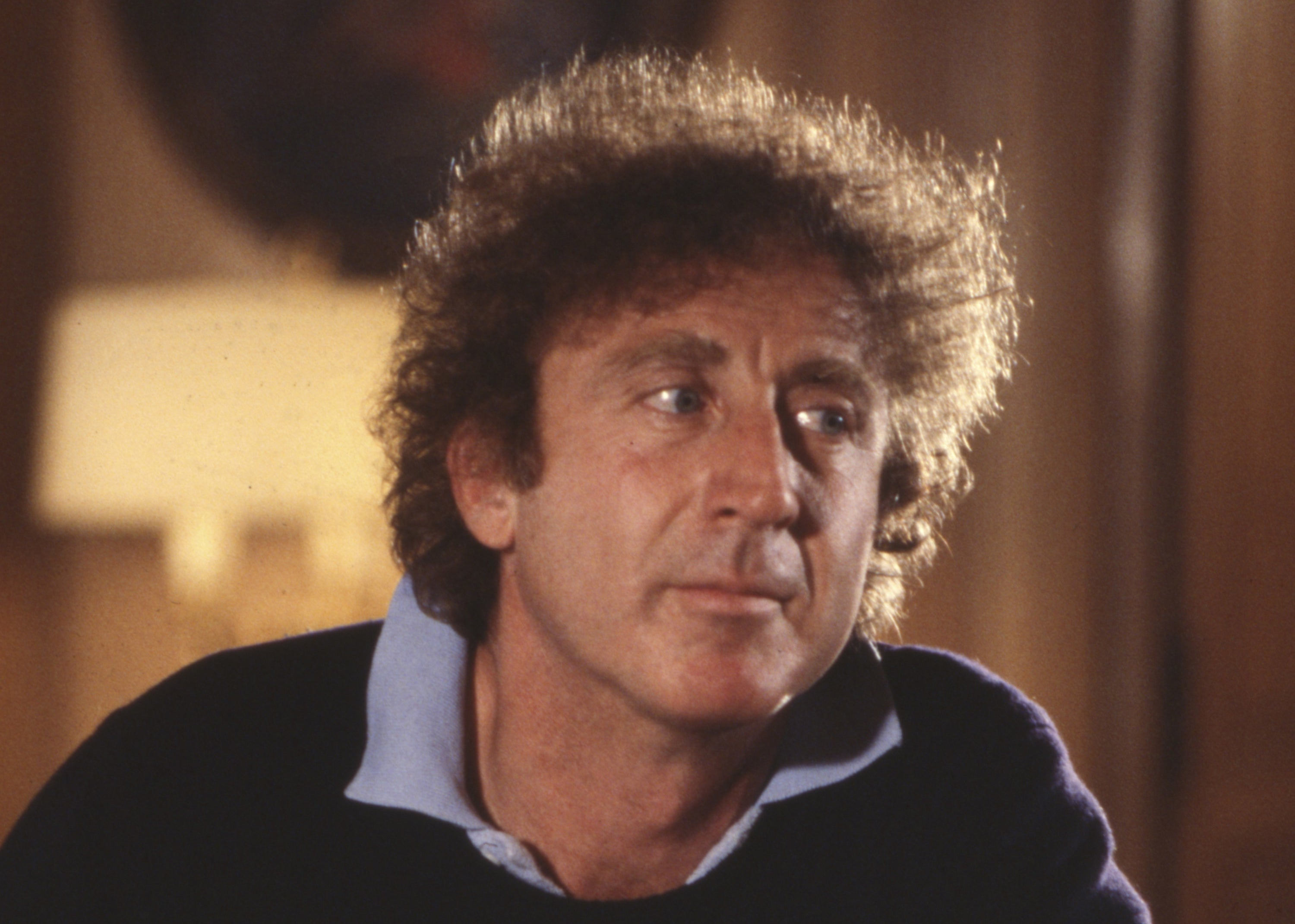 Photo of Gene Wilder gazing off to the side