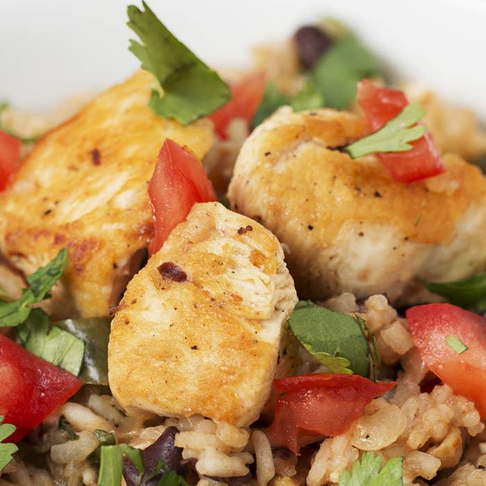 Chicken and cilantro rice dish