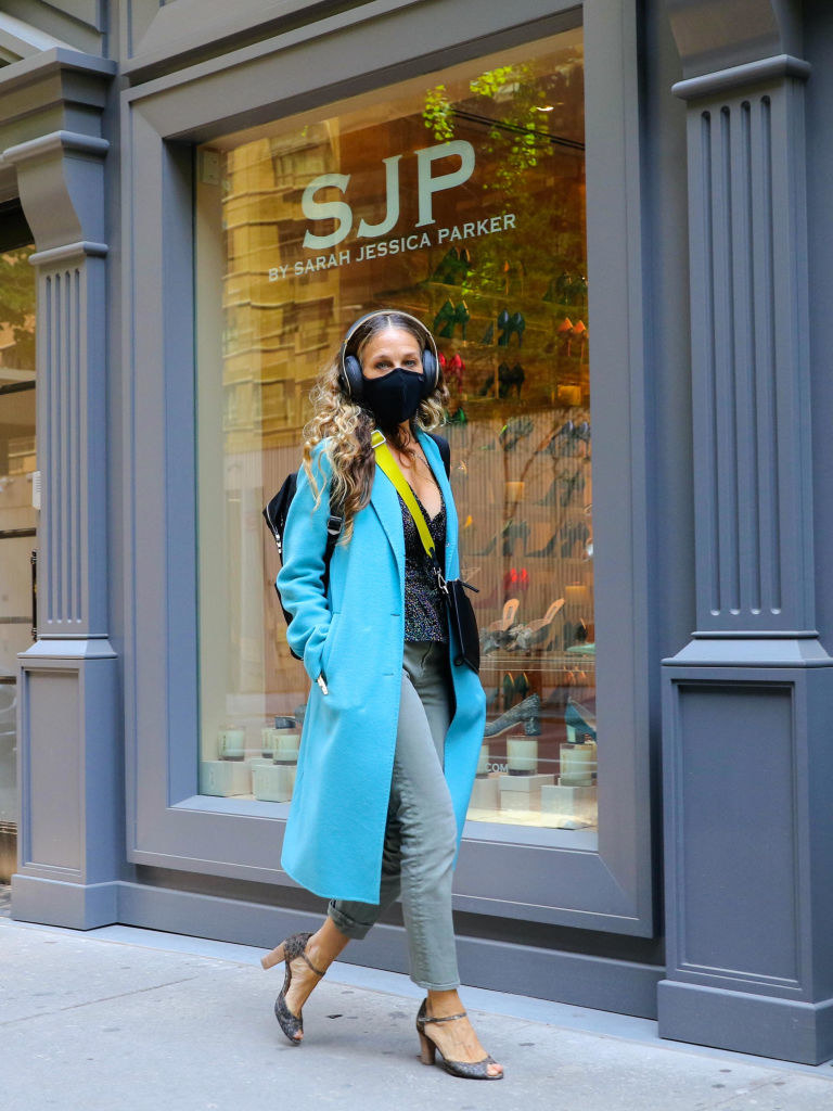 SJP walking the city streets