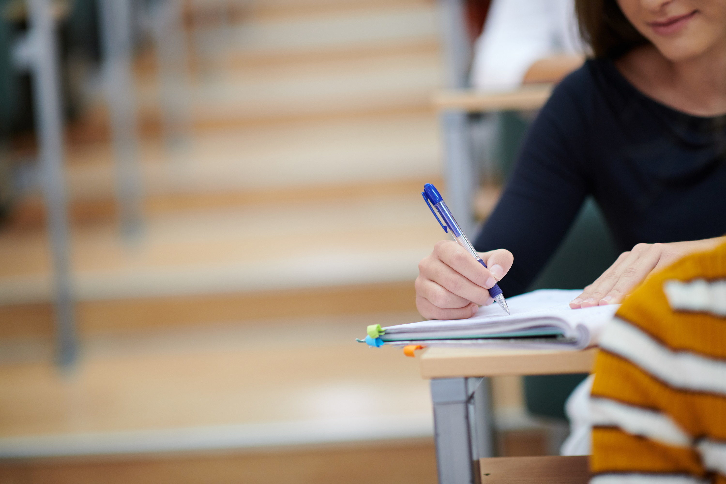 A student at their desk