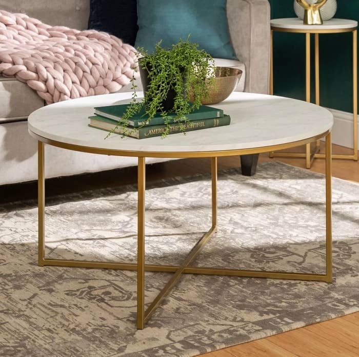 The faux marble coffee table