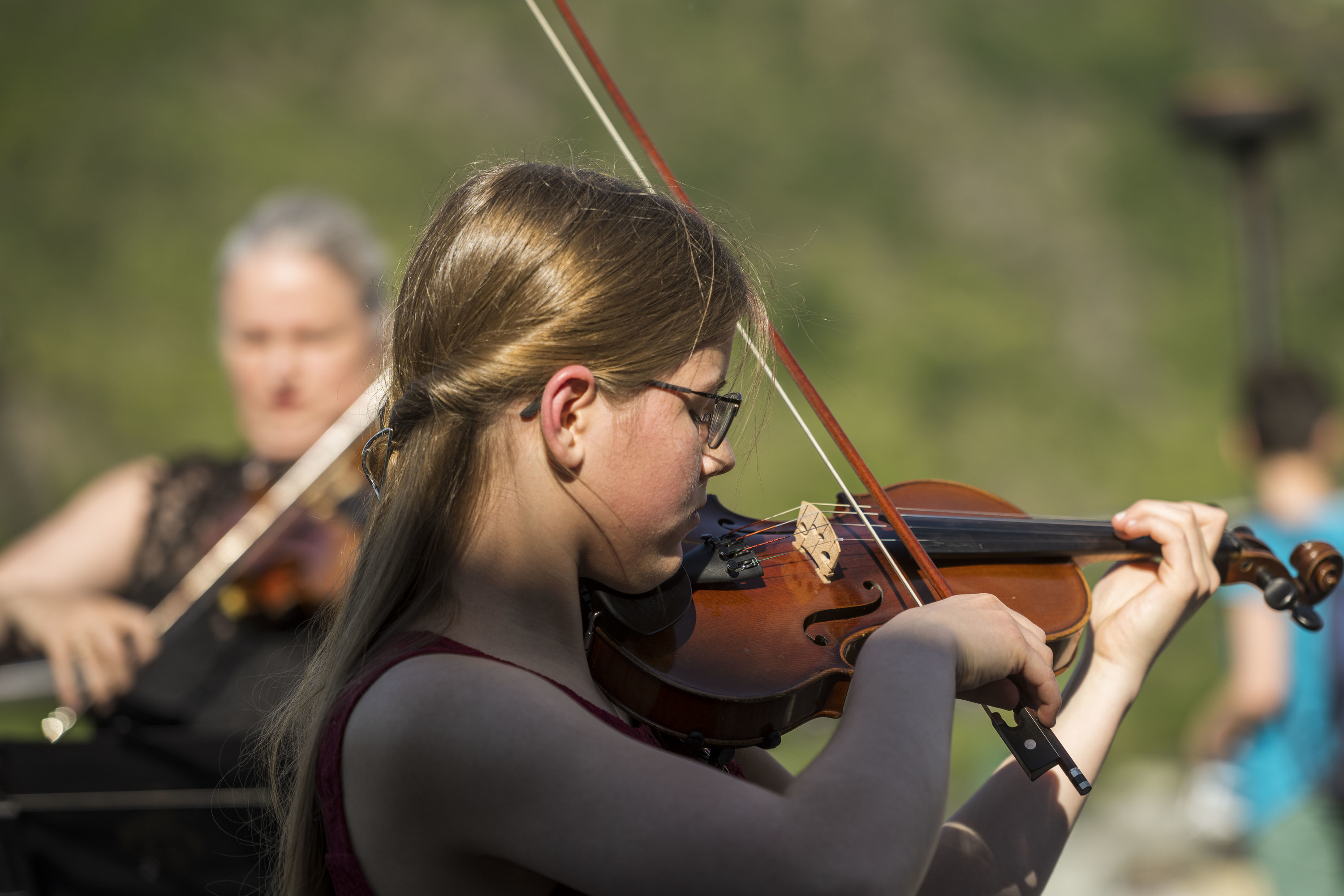 A student violinist