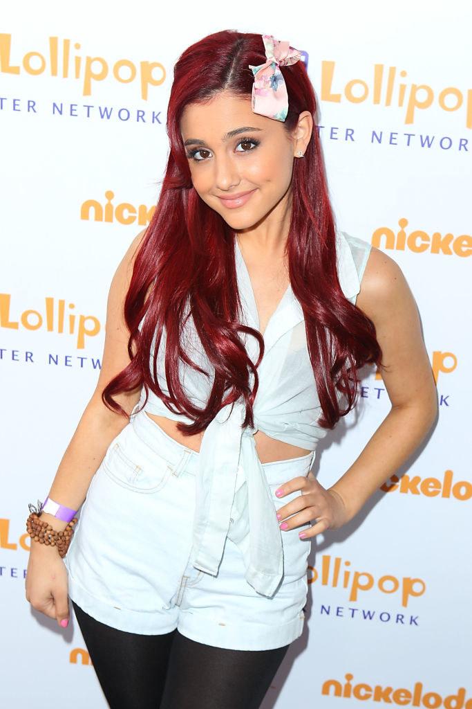bright red hair Grande