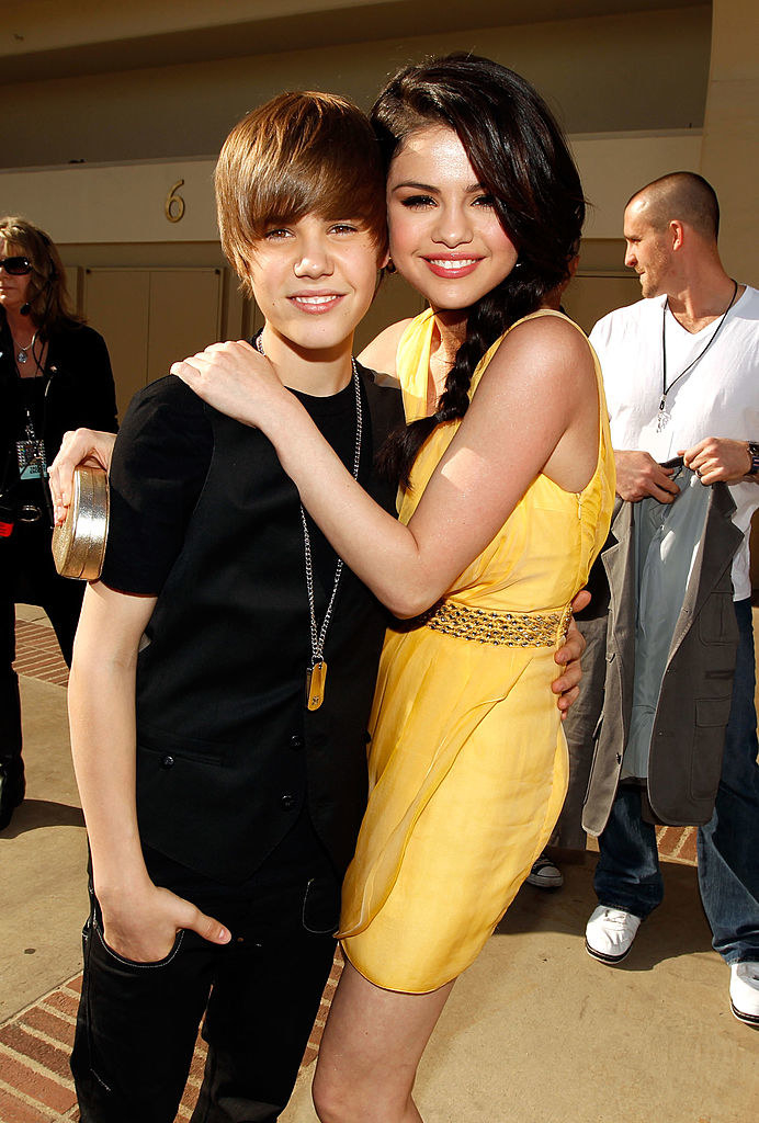 with a tiny Justin Bieber