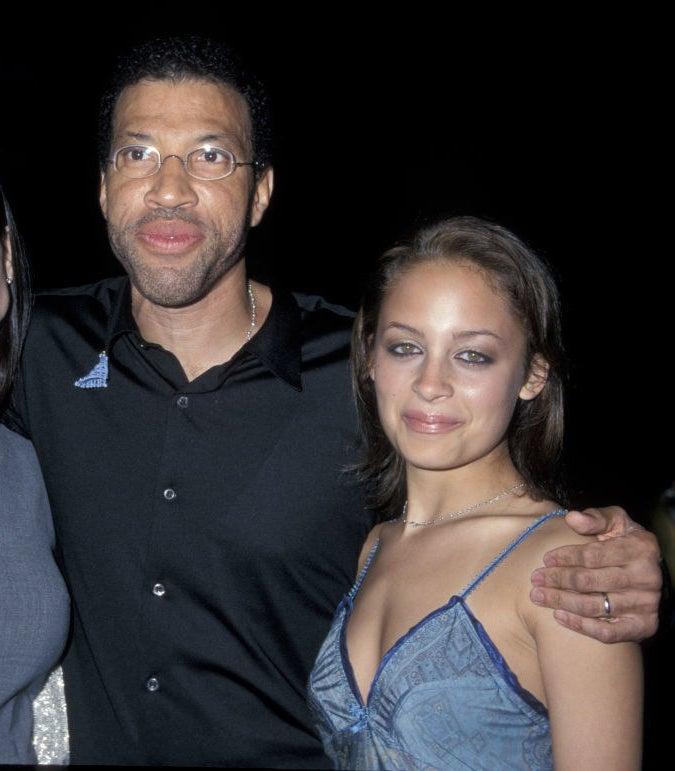 with her dad, Lionel Richie