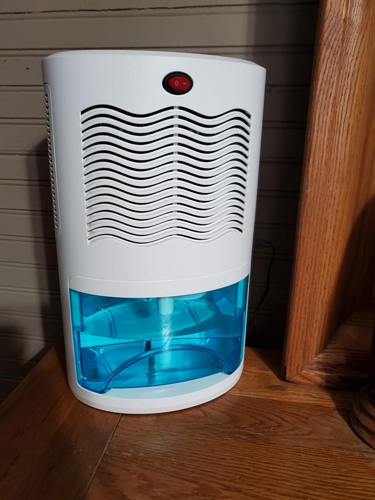 Reviewer's dehumidifier placed on table