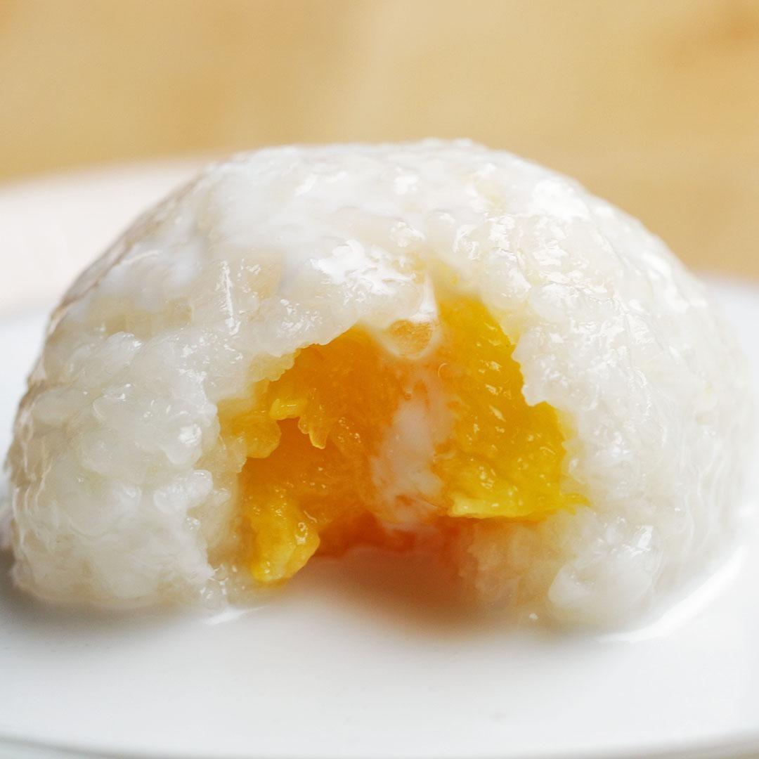 Mango sticky rice balls