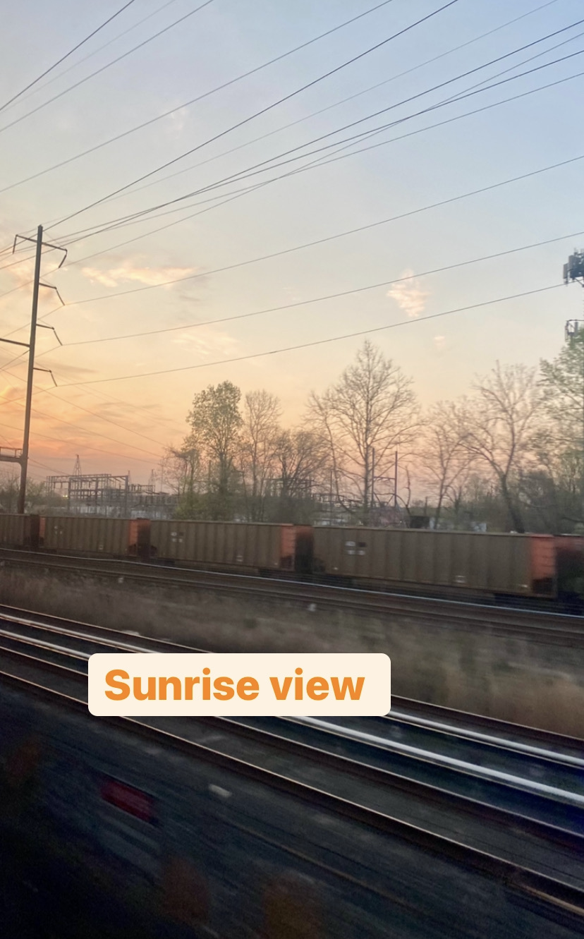the sunrise from the viewliner roomette