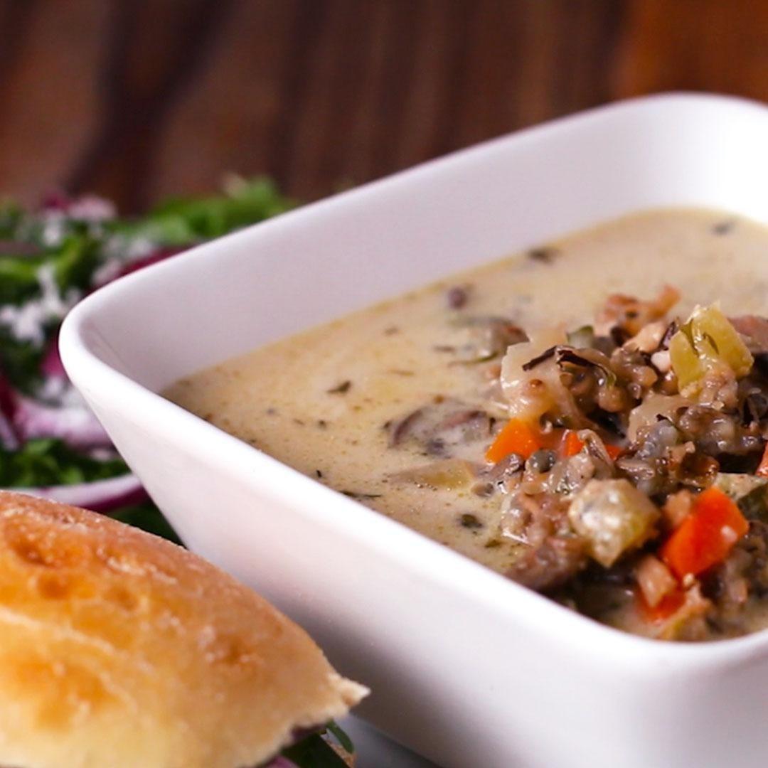 Creamy rice soup
