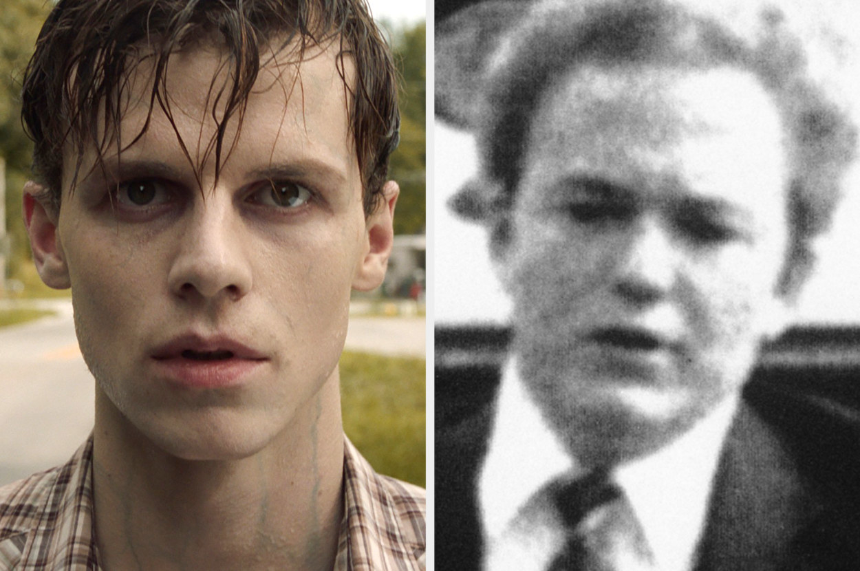 A photo of Ruairi side-by-side with a black-and-white photo of Arne