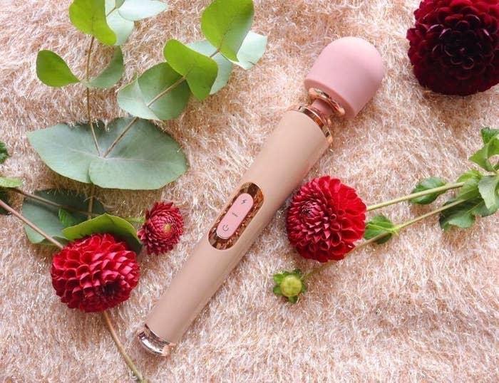 Pink wand vibrator