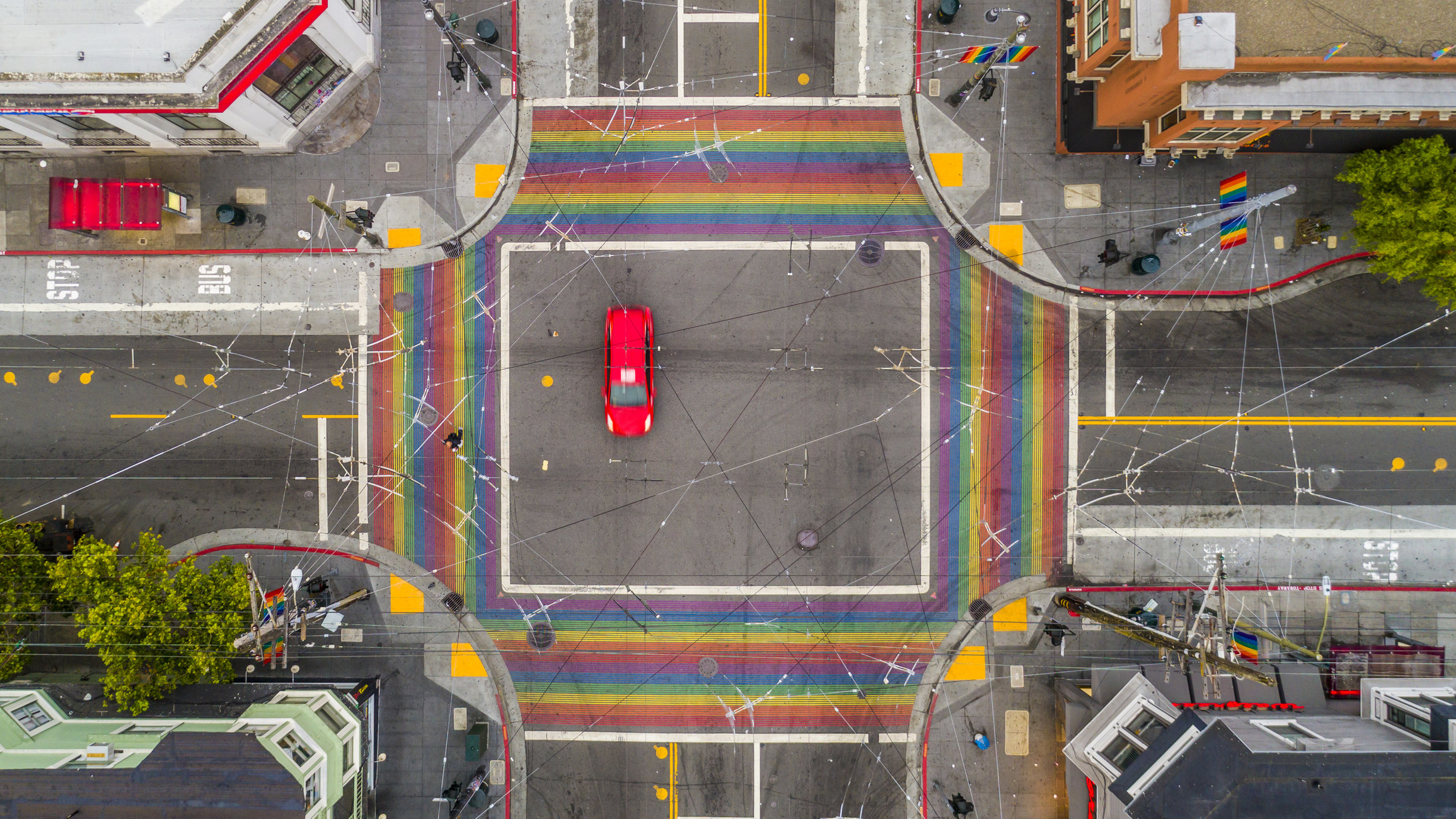 Aerial photo of the Castro District in San Francisco, California