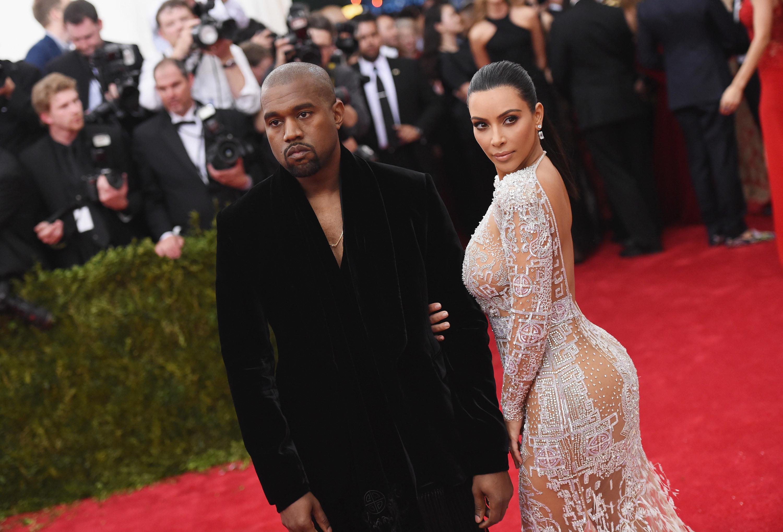 Kim and Kanye at the 2015 Met Gala