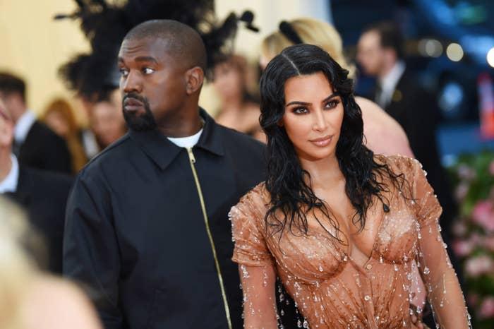 Kim and Kanye post at the 2019 Met Gala