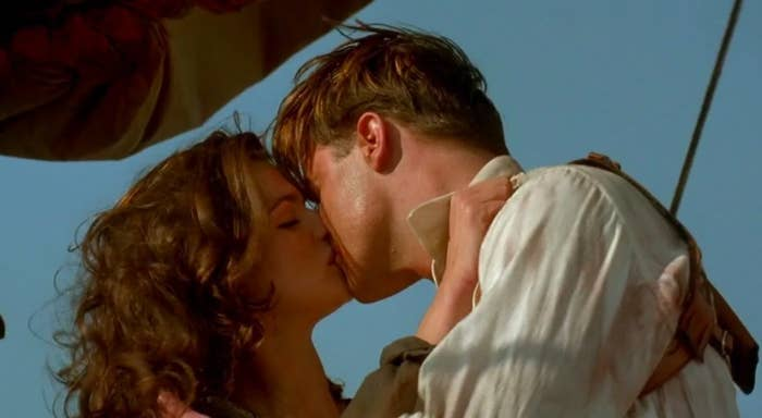 Evie and Rick kiss